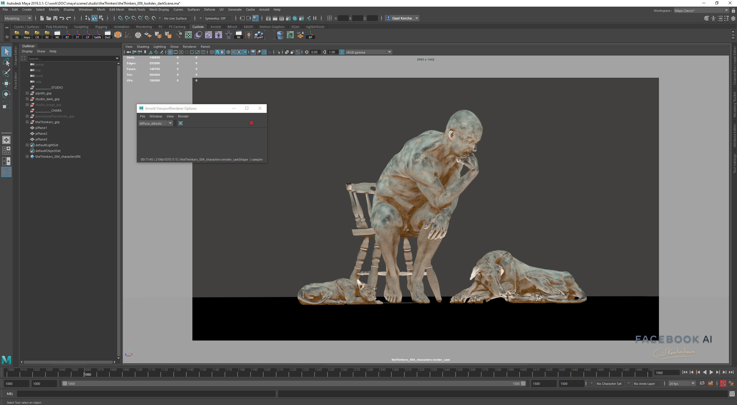 Procedural Material done entirely in Maya for reusability.