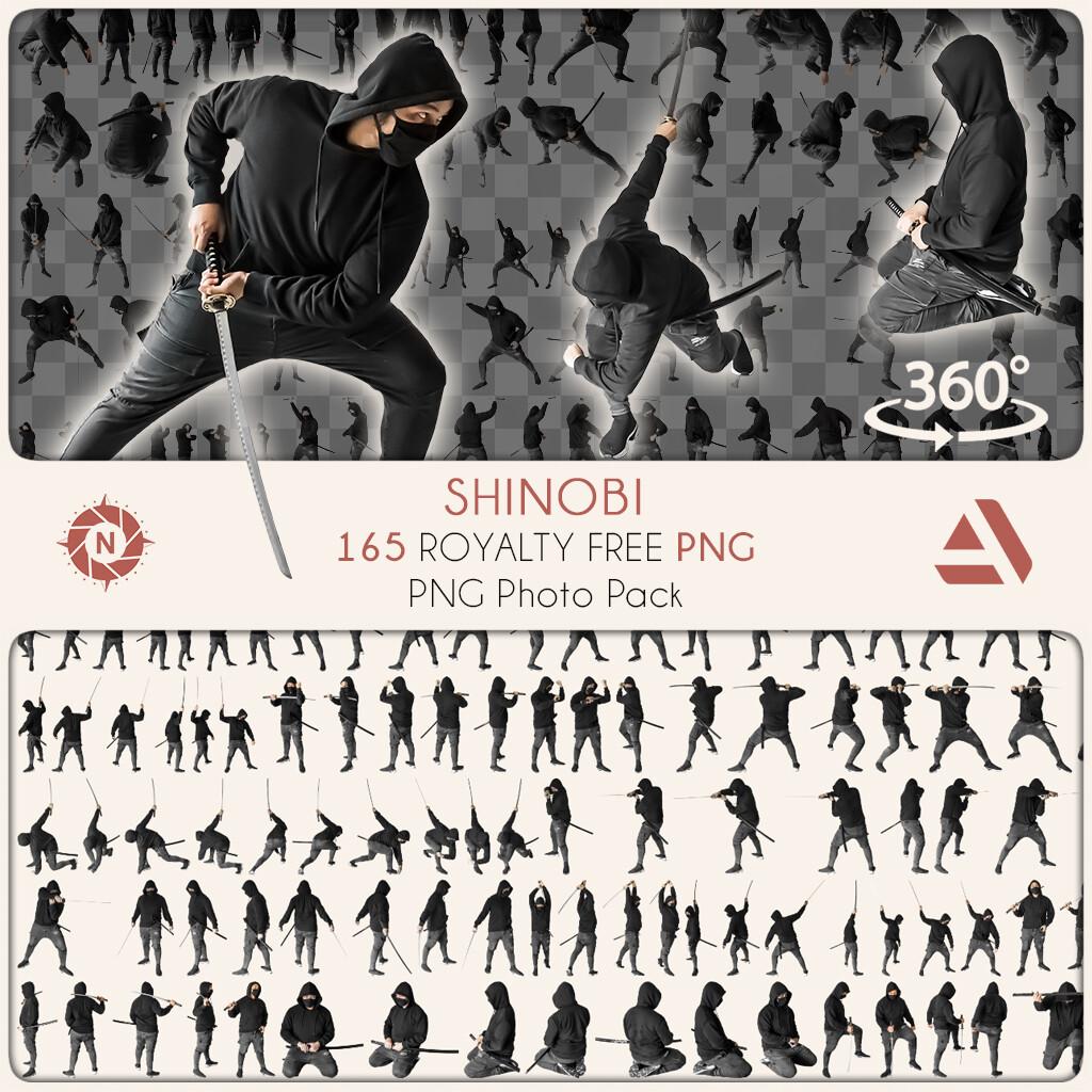 PNG Photo Pack: Shinobi  https://www.artstation.com/a/9008975