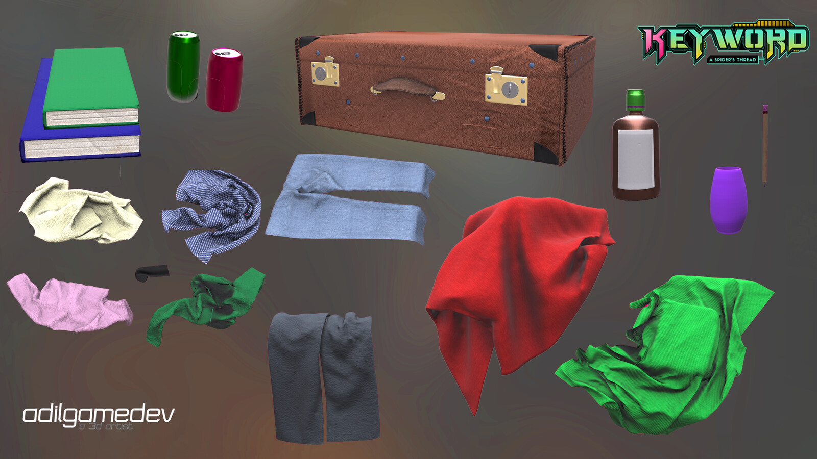 Some props including the clothing (other than blanket)