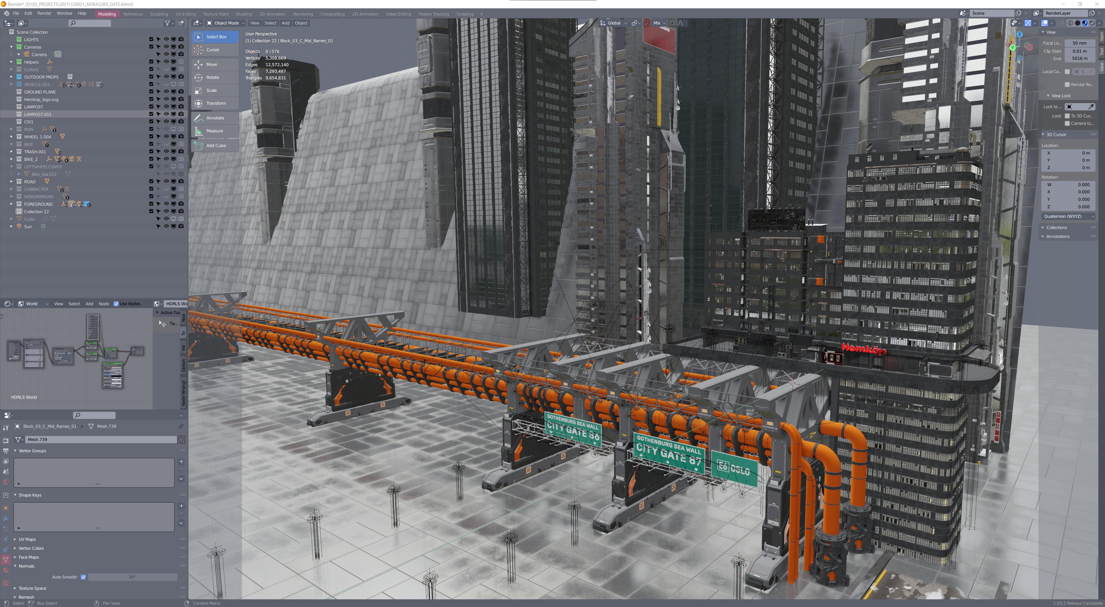 City details, kitbash sets from Kitbash3D and Chtazi Nazka