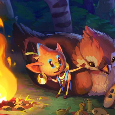 Nico fari campfire