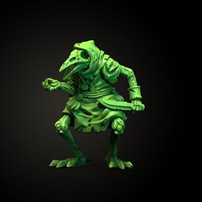 Poe - Undead Kenku Miniature