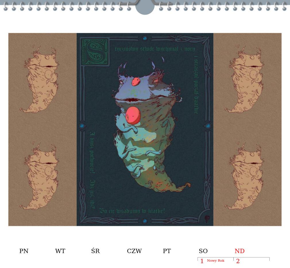 PL - styczeń (wizualizacja) ENG - January (visualisation)