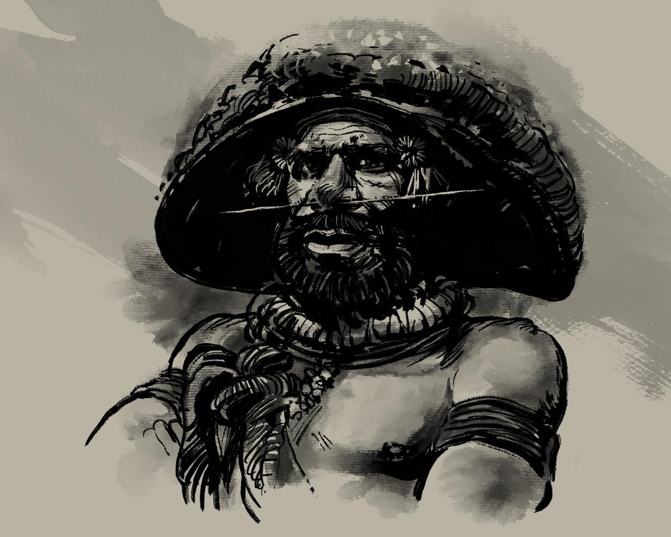 Huli wigman - Papua tribesman