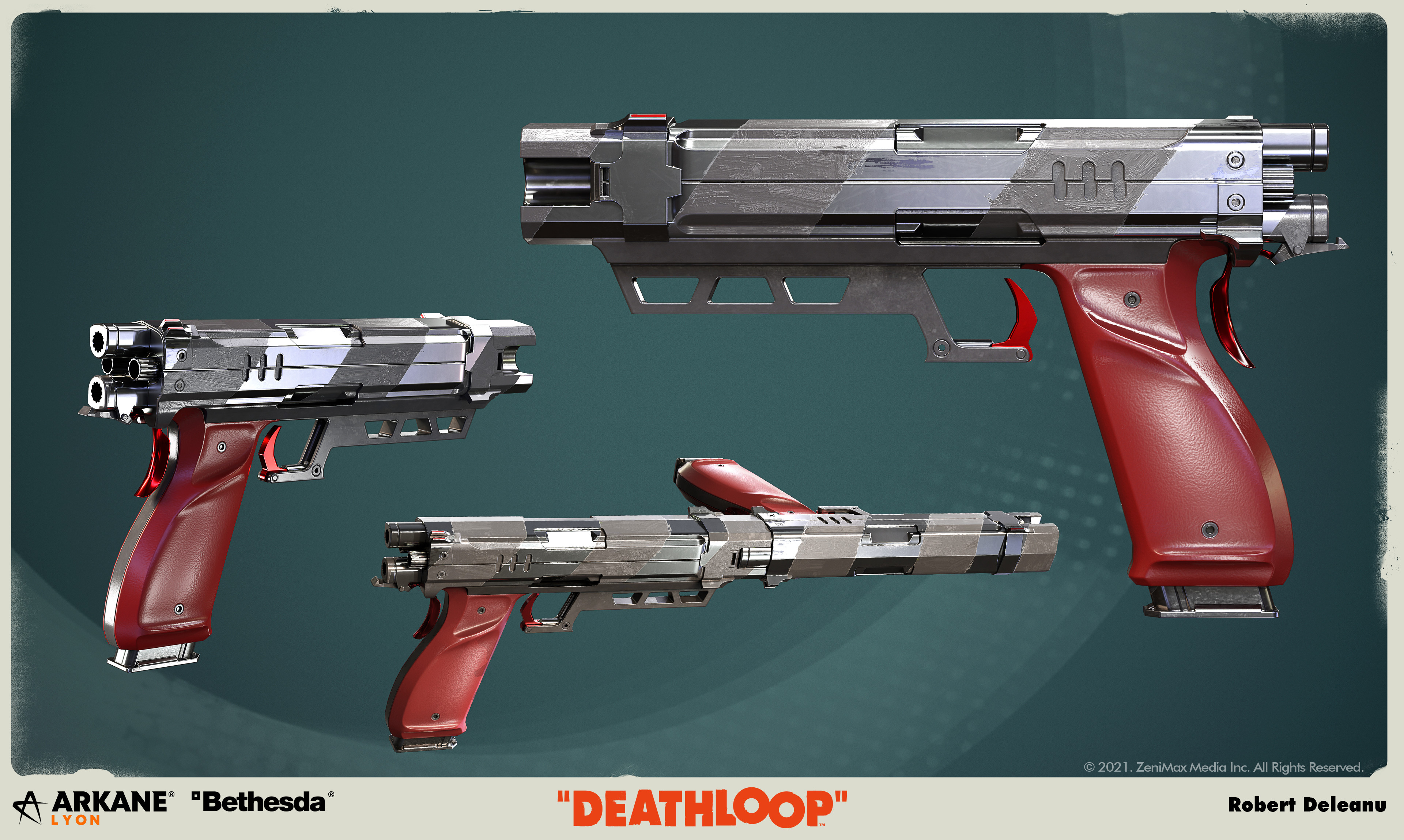 The Strelak Verso, dual handguns with a burst-rifle mode, is one of the four unique guns found in Deathloop.
