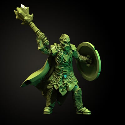 Azogun - Undead Orc Miniature