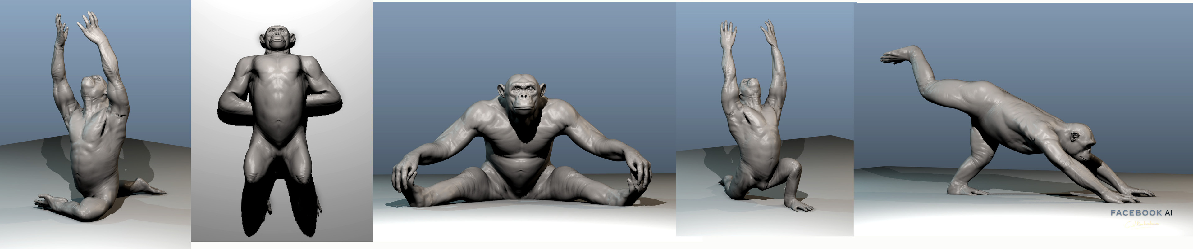 These poses have been used to helped to learn ROM (Range Of Motion) from 3D