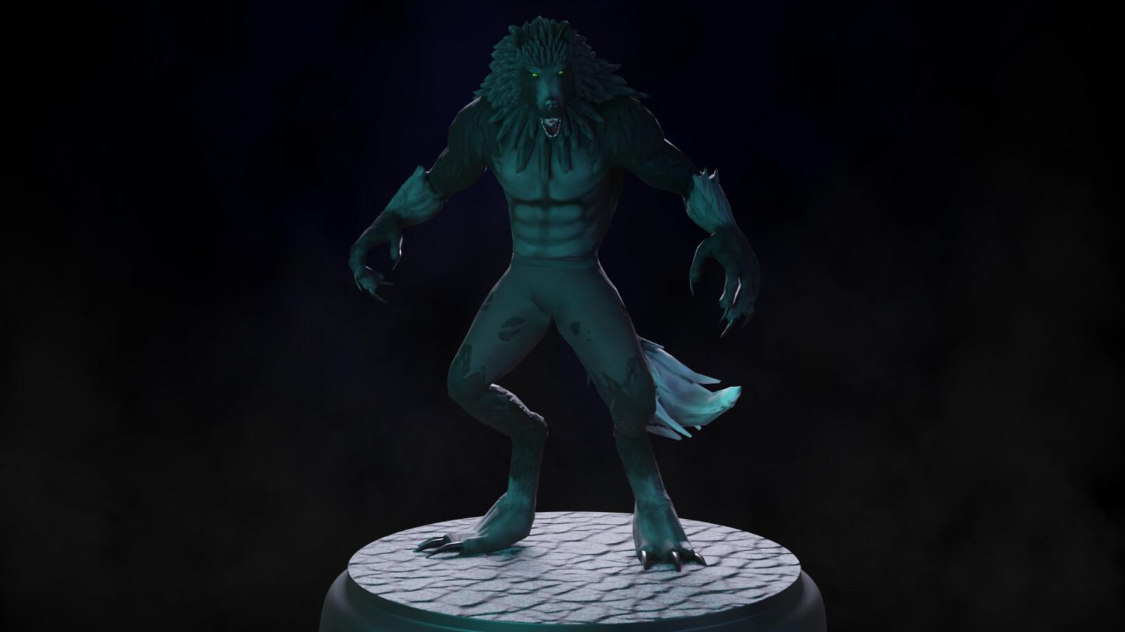 Stylized werewolf