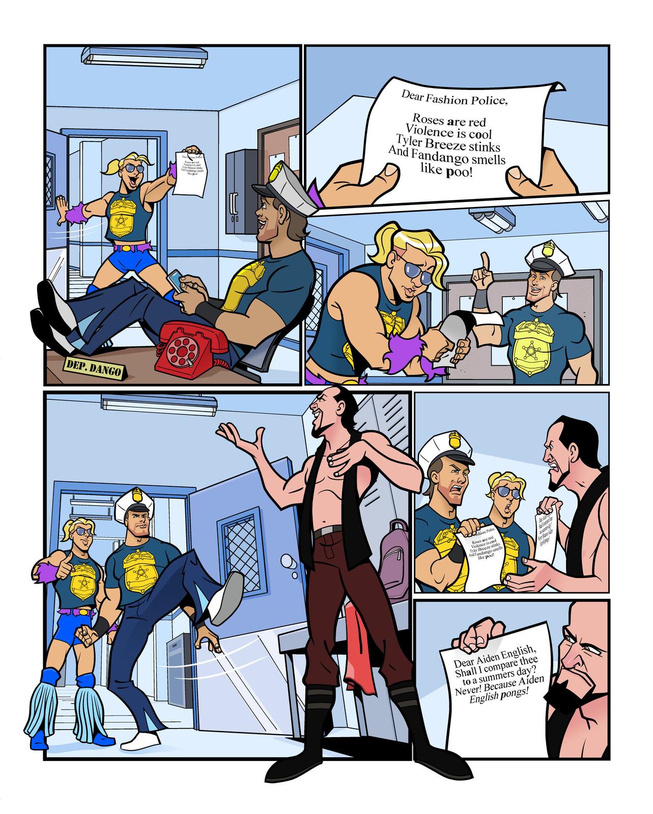 WWE Kids Fashion Police 004 - Comic Strip