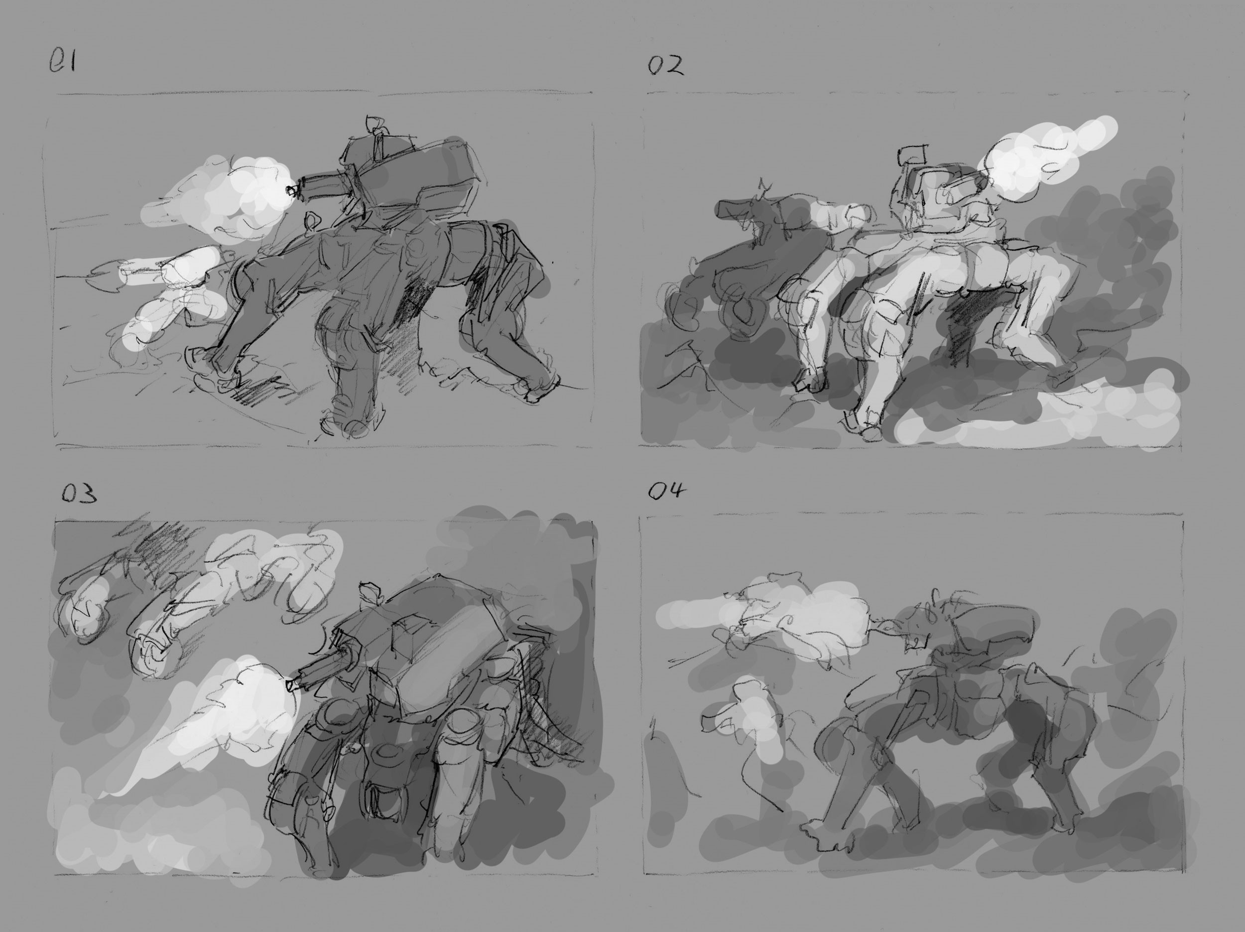 Thumbnails for the final art