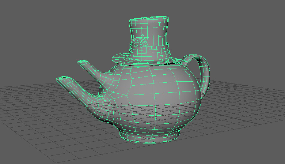 optimized teapot mesh