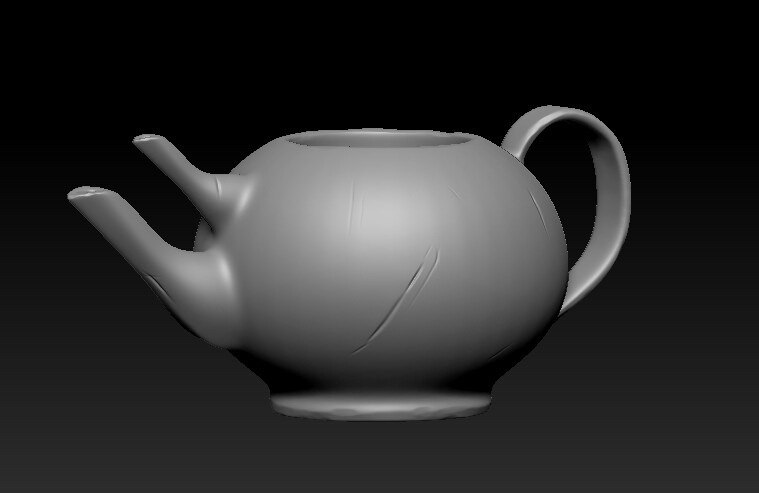 teapot high poly sculpt
