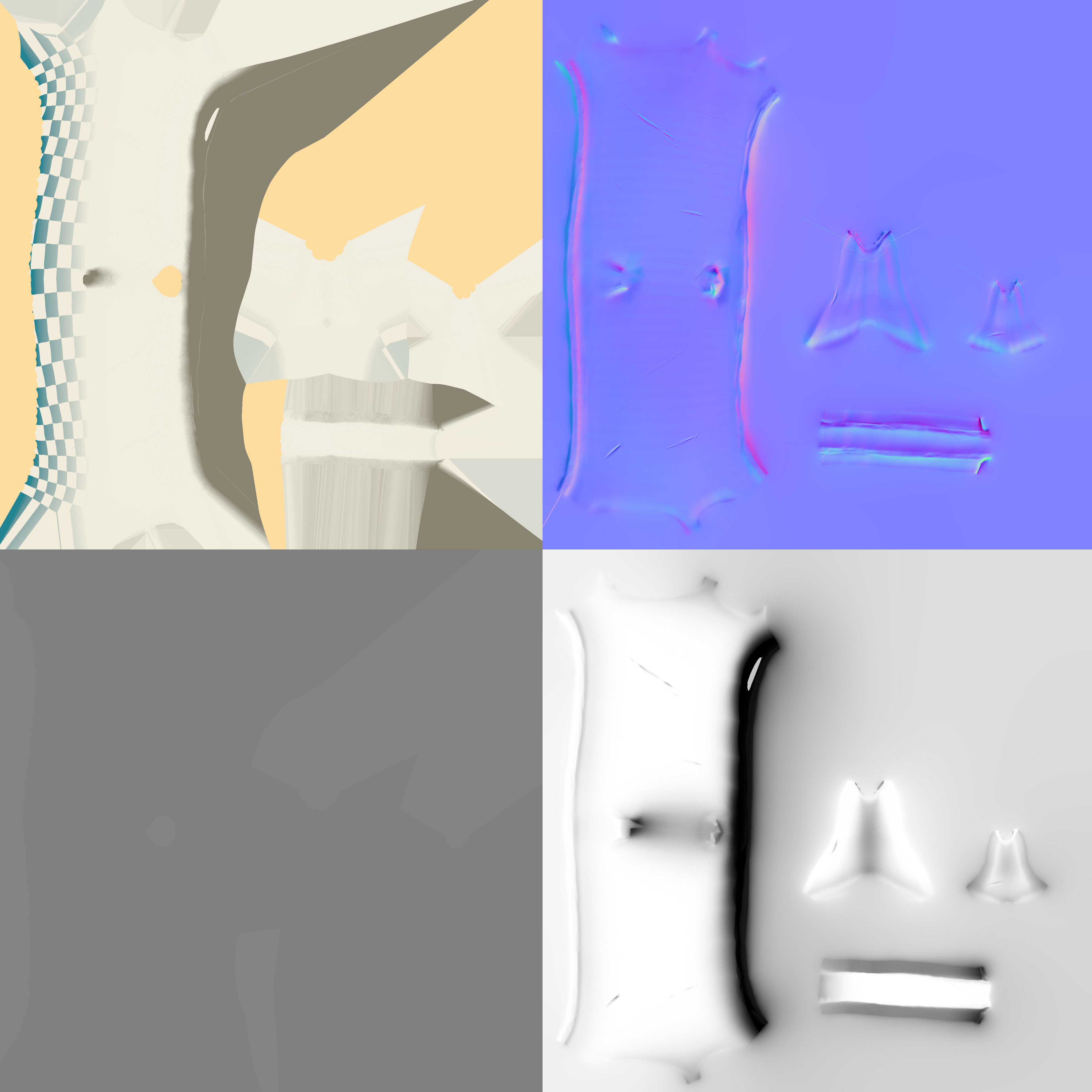 Teapot texture maps: Albedo/Normal/Height/Ambient Occlusion