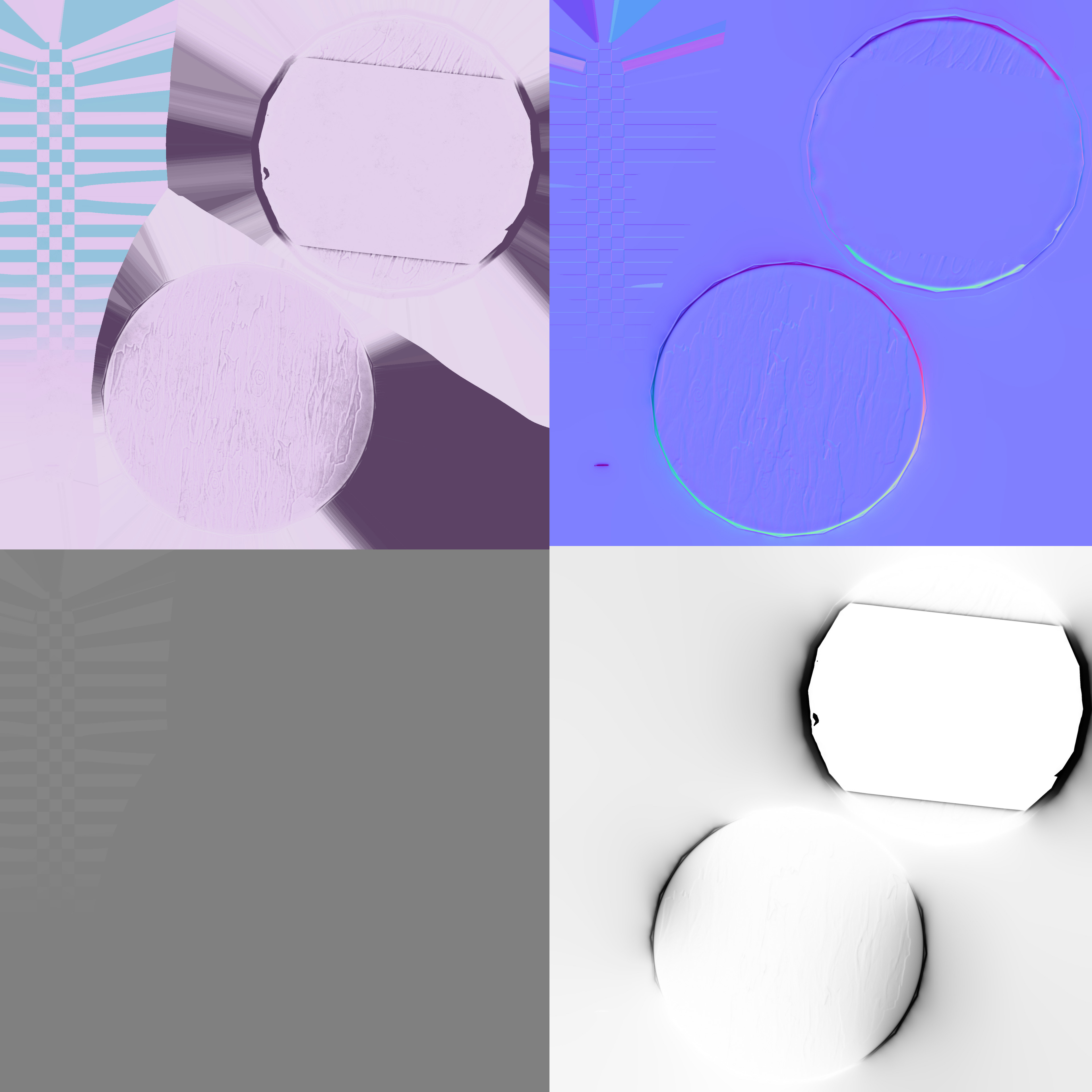 Table texture maps: Albedo/Normal/Height/Ambient Occlusion