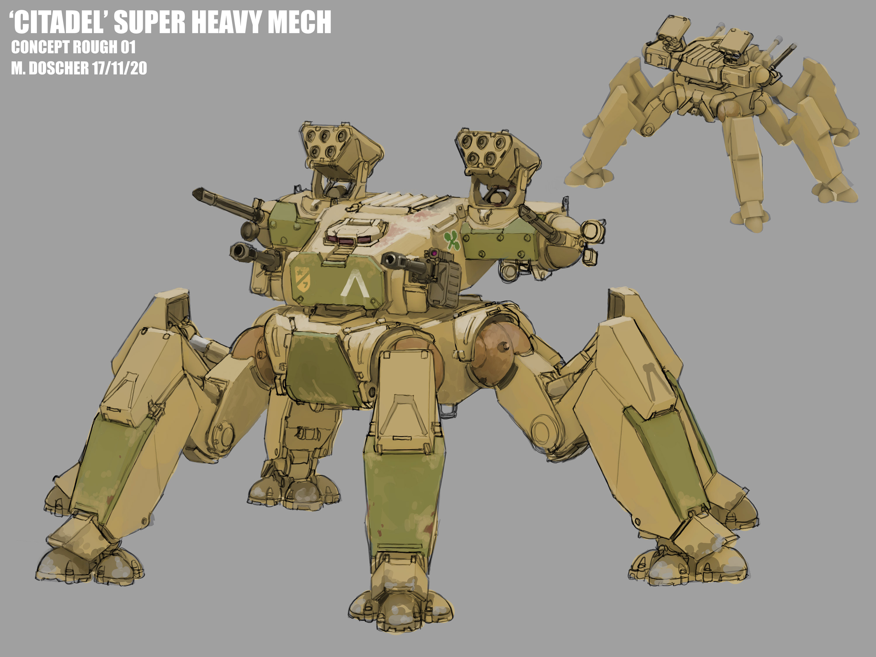 A super heavy design with a modular weapon loadout.