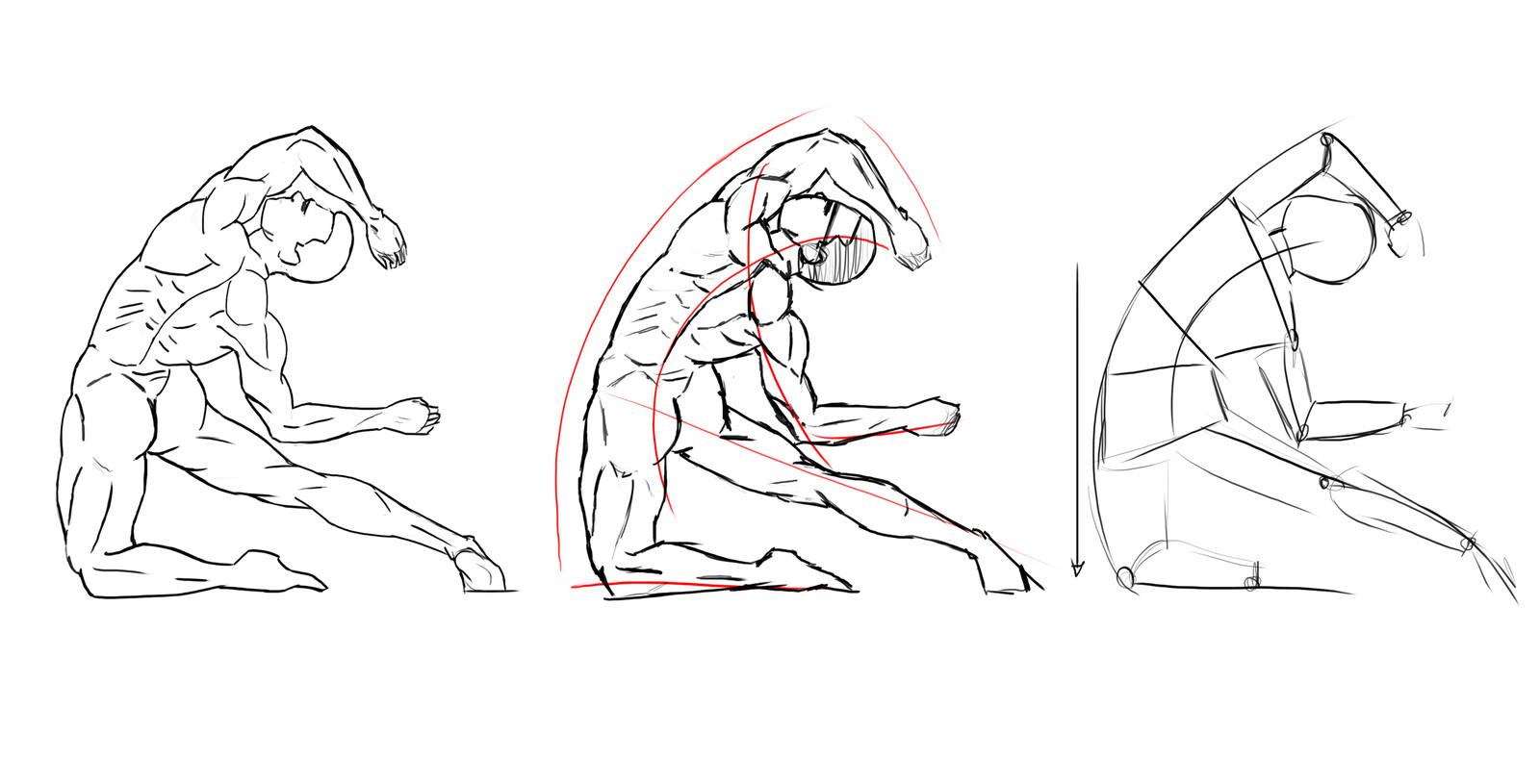 Figure Line art