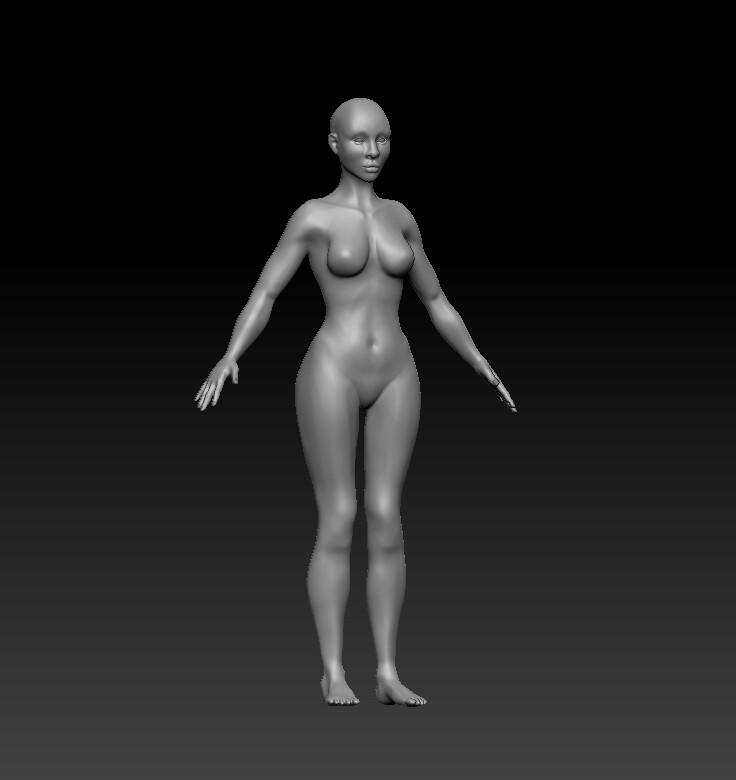 High poly sculpt