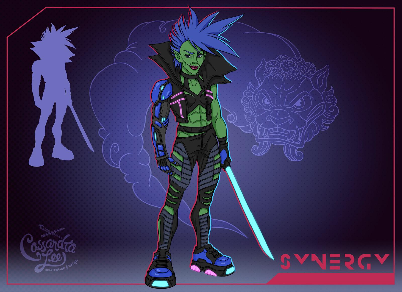 Cyberpunk Orc