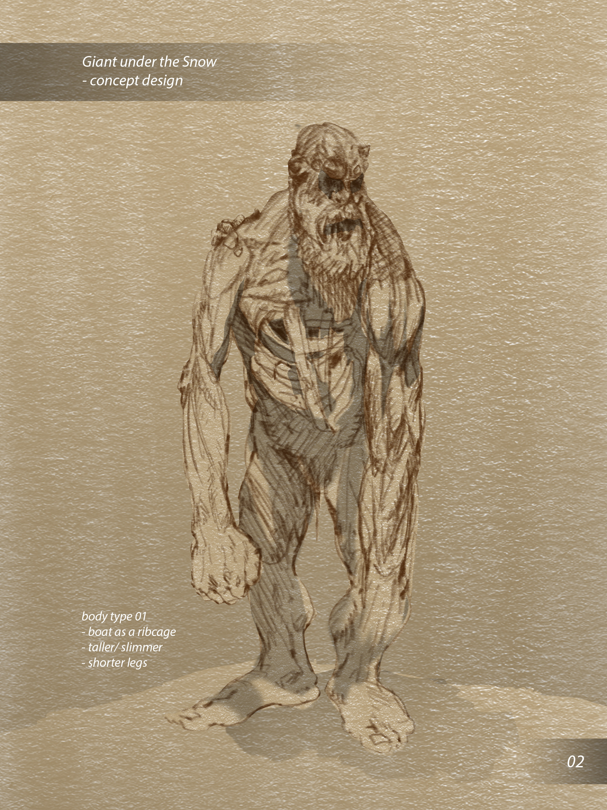 Early sketches of the giant development