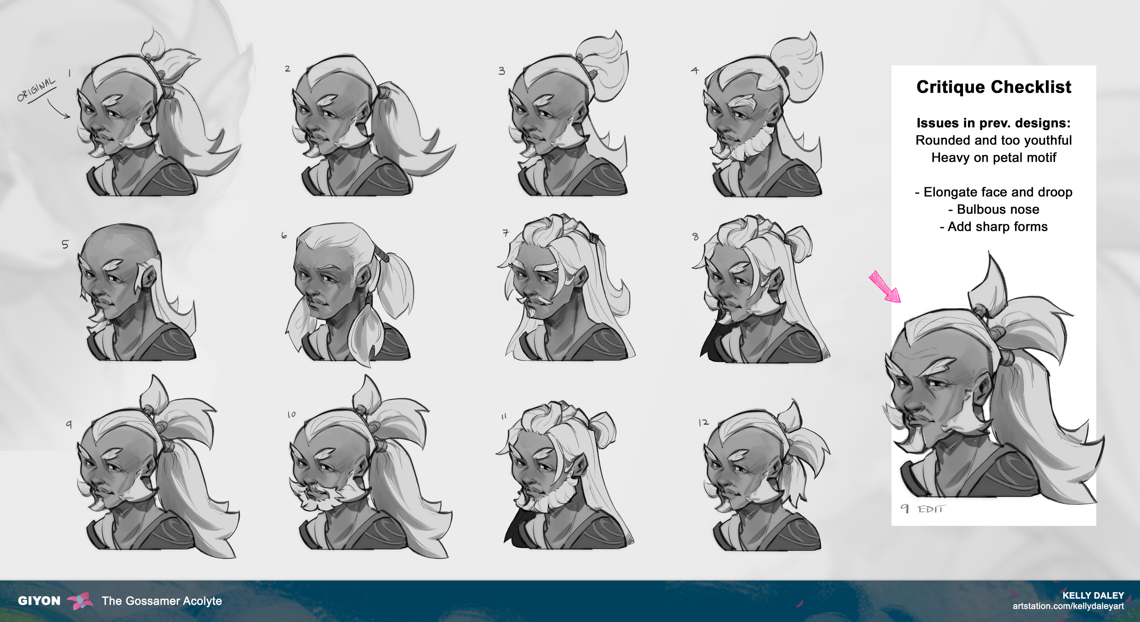 Luckily within the first iteration of heads, I felt a strong connection with one. Funny enough, I only made small changes to the original head despite all the variations. I wouldn't have known this was the best direction without all these iterations!