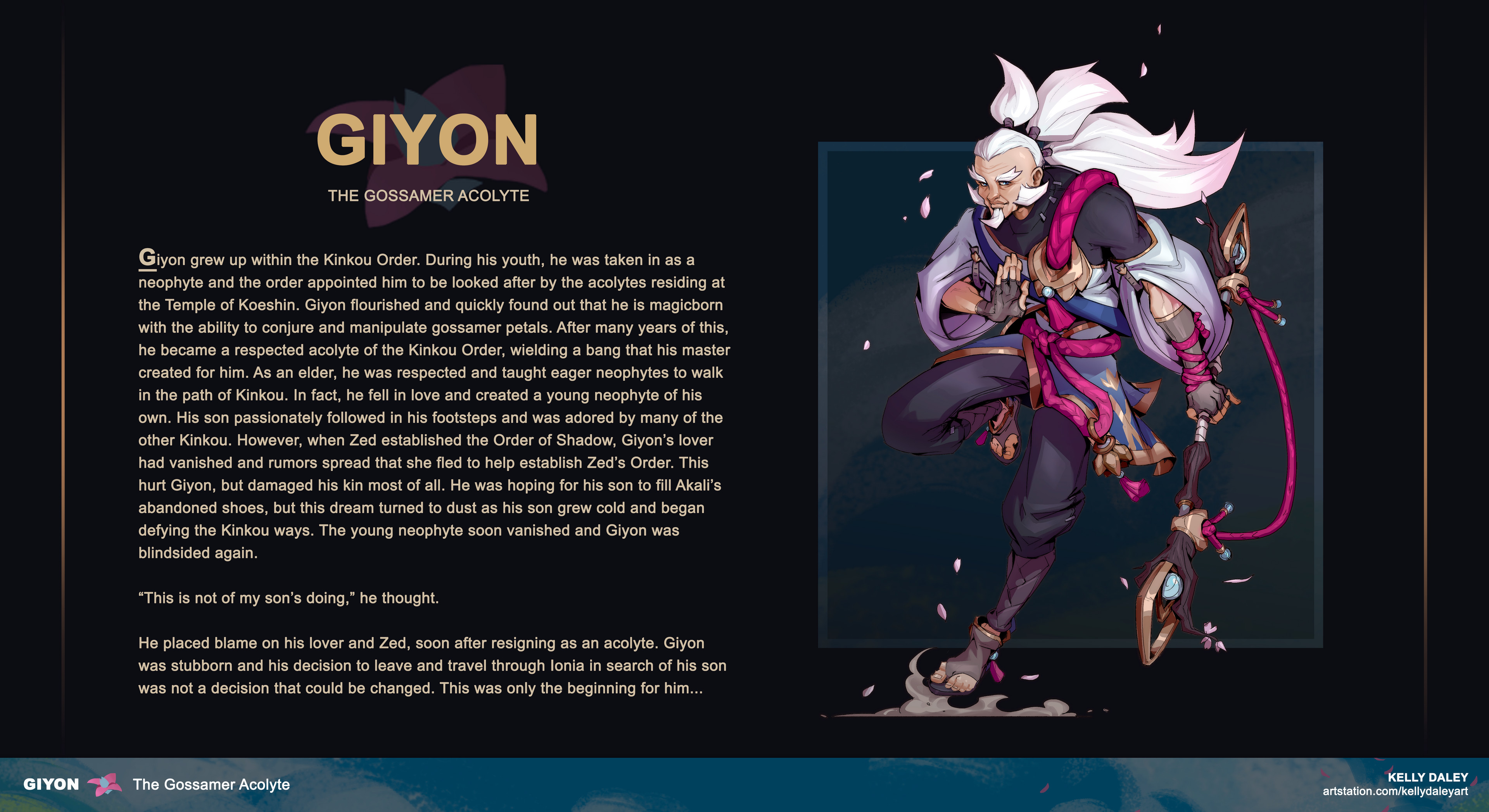 Final Render + story exerpt for Giyon.