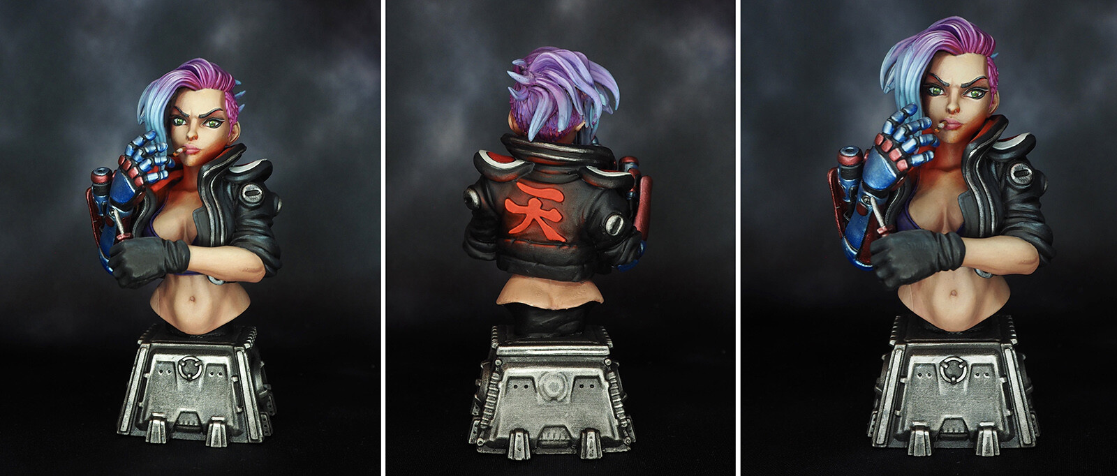 Final version of the bust painted by Em (ElectricEve)