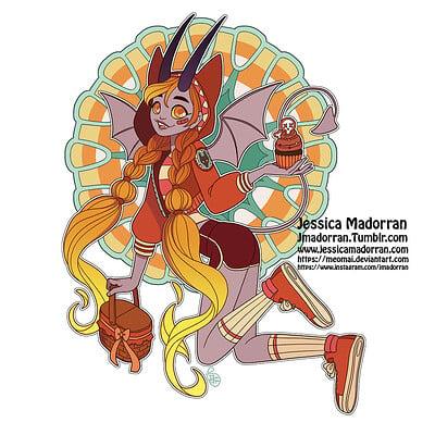 Jessica madorran patreon october 2021 twisted little red riding hood sticker option 01 artstation