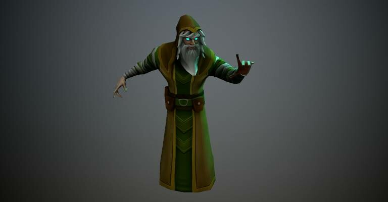 Low Poly Wizard For Mobile Game. Responsible for Modeling, Rig, and Animation