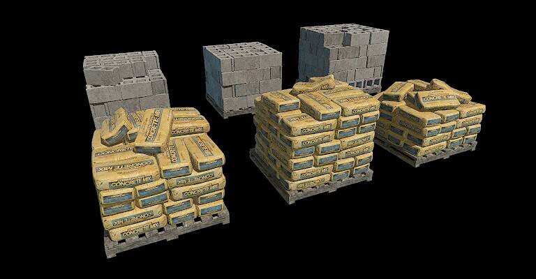Concrete/Cinderblock Cover Props