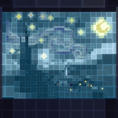 Voxel Starry Night