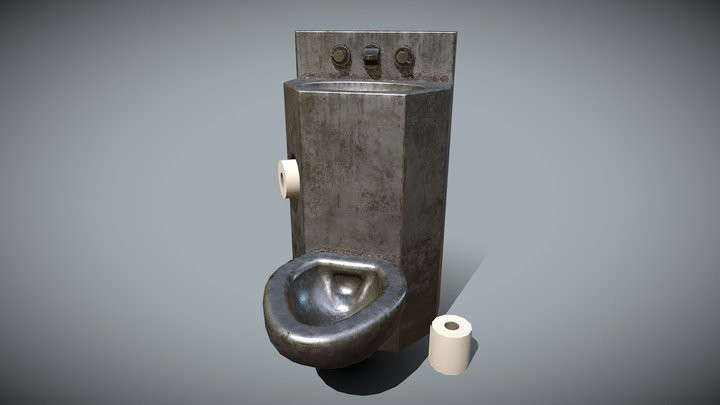 Prison Toilet Sink for Jail Cell Asset Pack