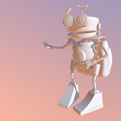 3D model and render of robot