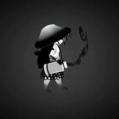 Inky Cap Mushroom Witch