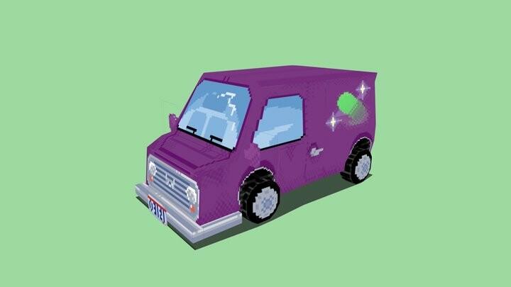 LowPoly Galaxy Van