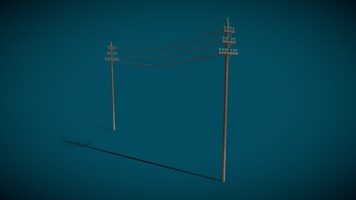 1880s Electric Pole