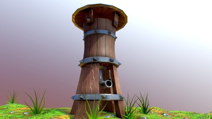 Stylized Water Tower