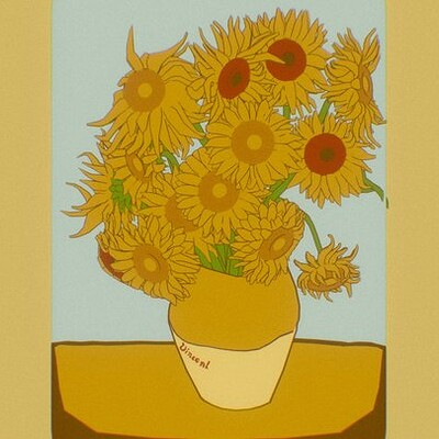 Van Gogh's Sunflowers 3D