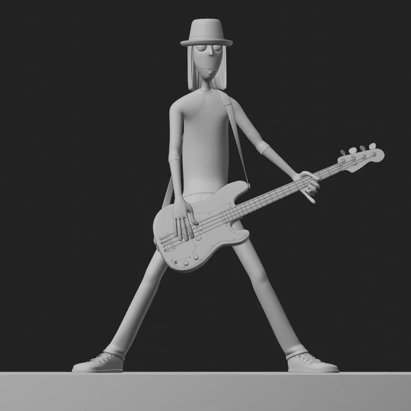 Josh from MAN BAND with bass turntable WIP