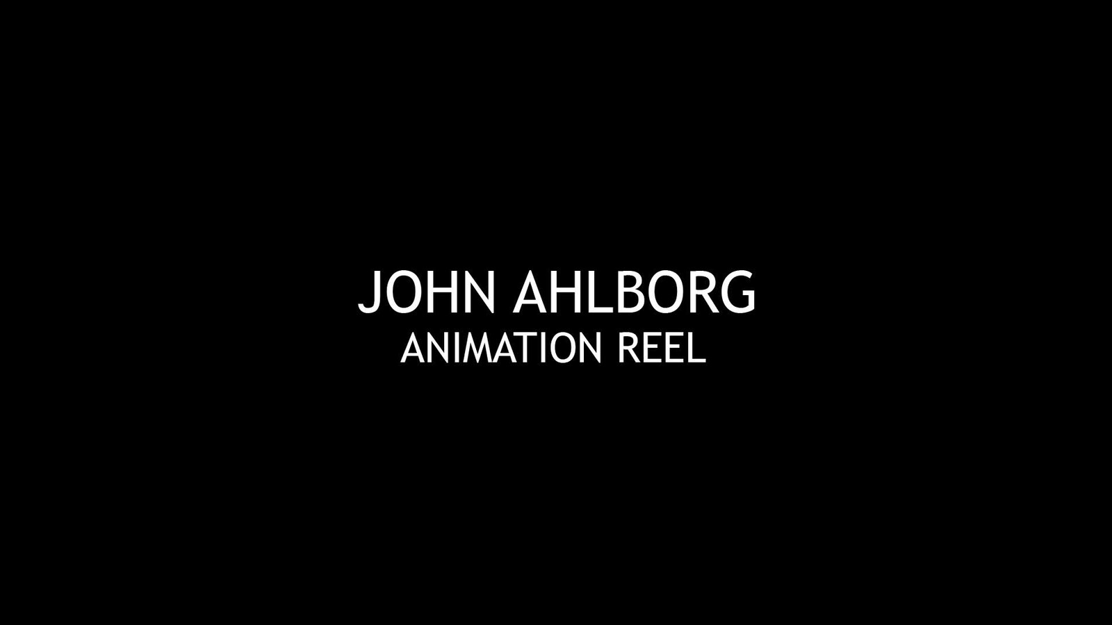 Game Animation Showreel