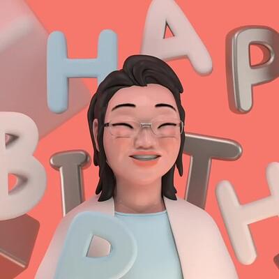 Motion Graphics |Happy Birthday, Mom
