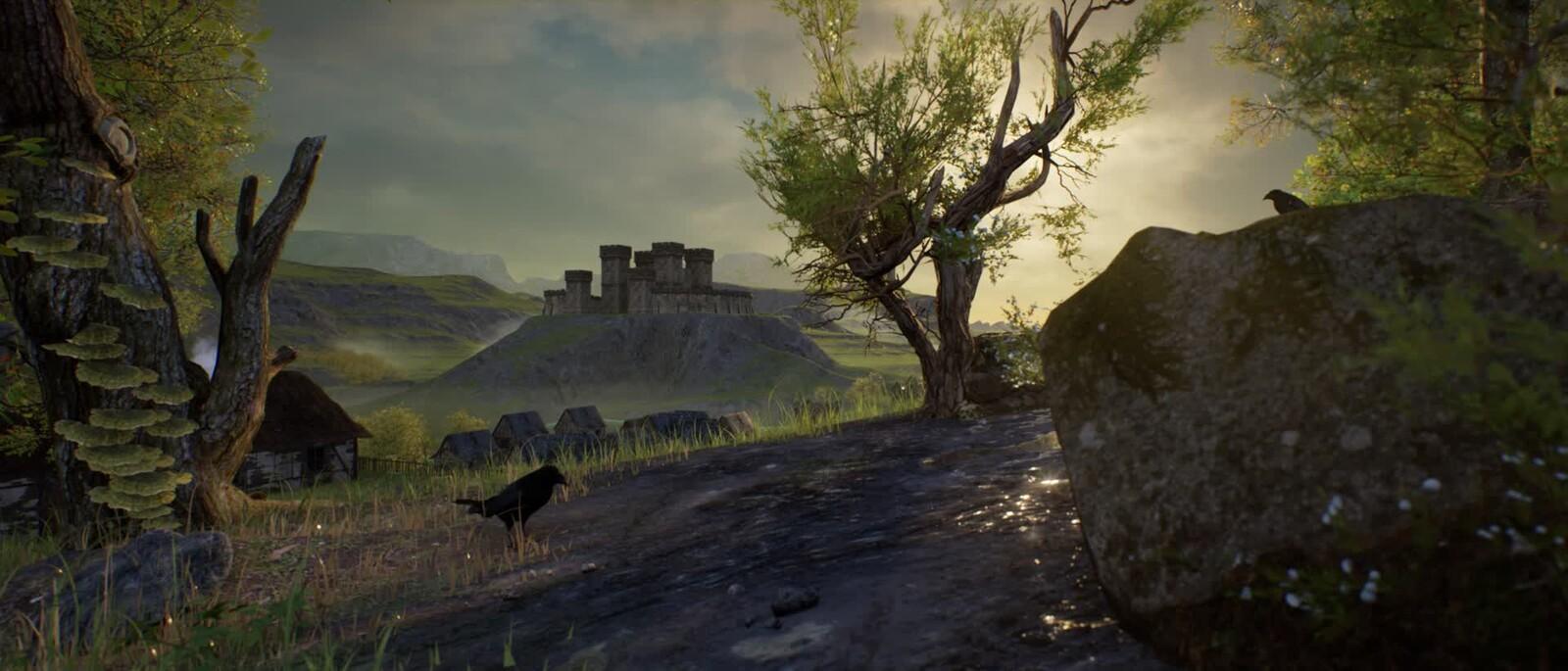 Medieval Scene - Speedtree - Brushify - Unreal Engine Animation