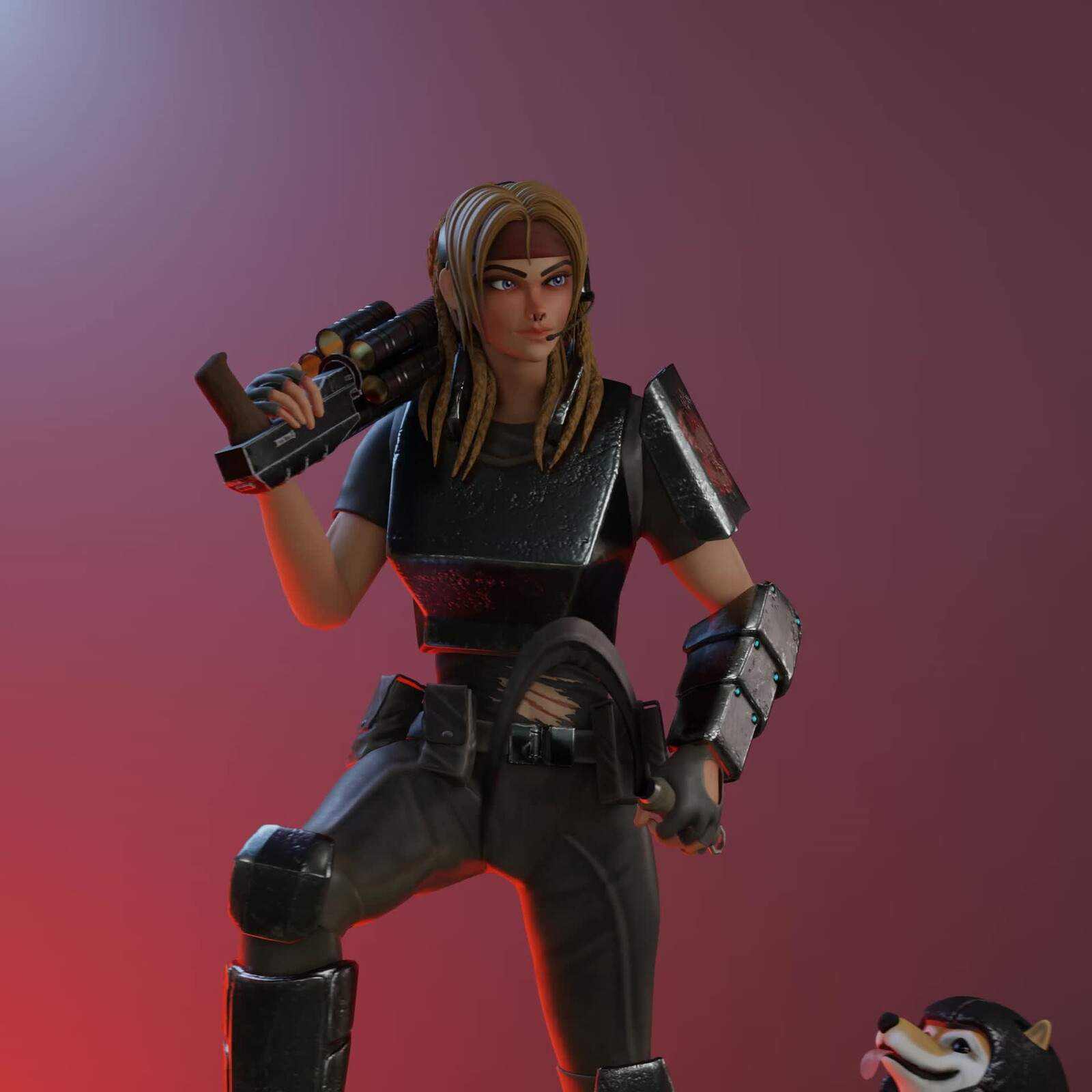 Miss Slaughter - Realtime 3D Character