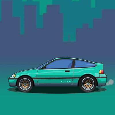 2D Animated Honda CRX