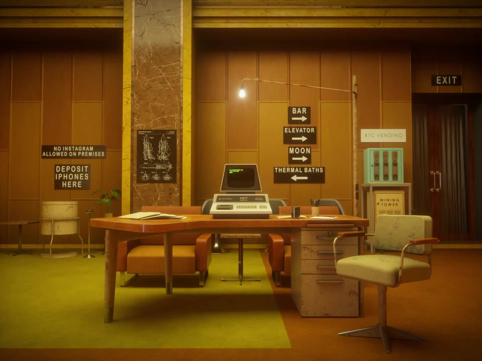 Space Age Office Design from 70s