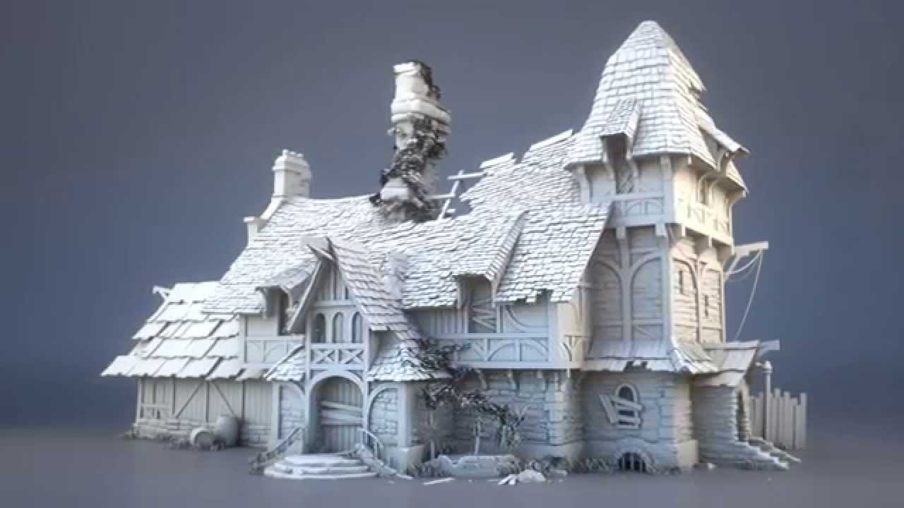 Ruined Building Model