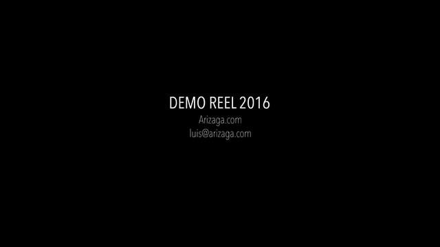 Modeling demo reel 2016