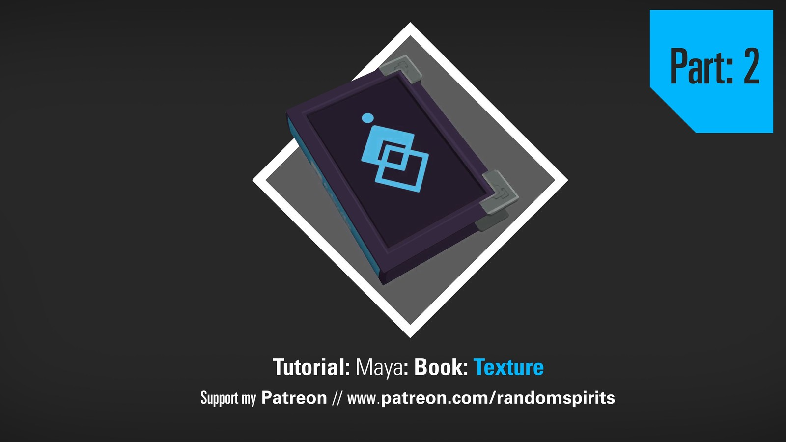 Low Poly Book Tutorial: Maya and Photoshop Part 2