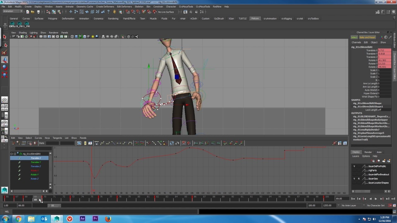 ArtStation - Archer Animation WIP timelapse 2, Stephen Mears