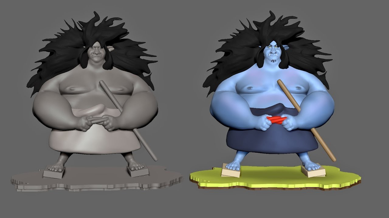 """WIP Sculpt based upon a 2d Concept by Gop Gap of """"Kyojin and Mob"""""""