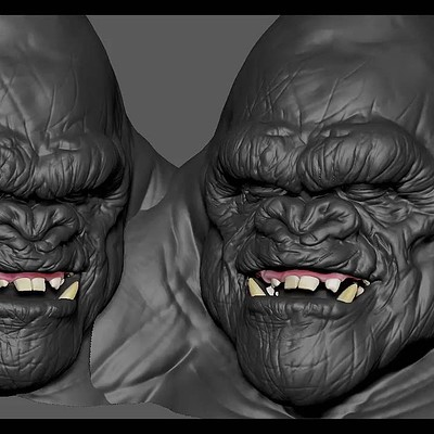 Gorilla ZBrush sculpt WIP